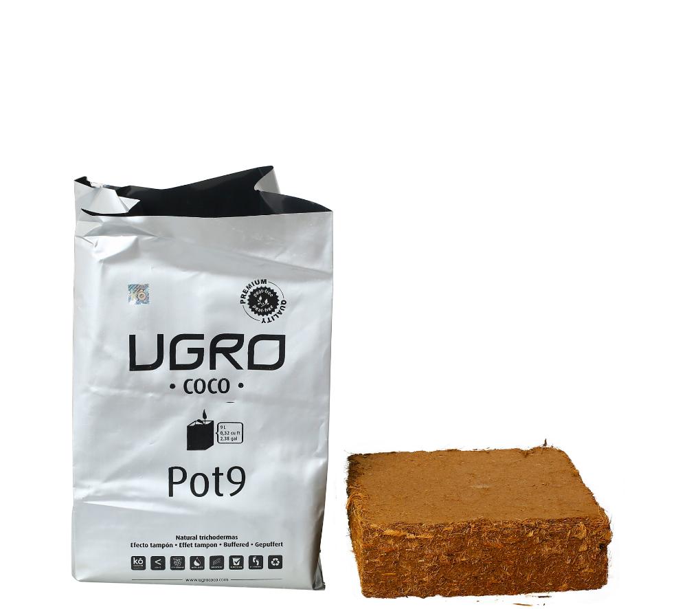 Ugro Pot 9 Rhiza кокосовый брикет с горшком 1
