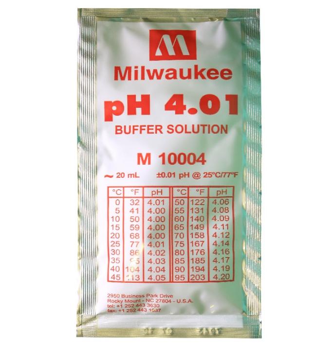 Калибровочный раствор pH 4.01 Milwaukee 1