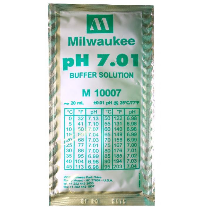 Калибровочный раствор pH 7.01 Milwaukee 1