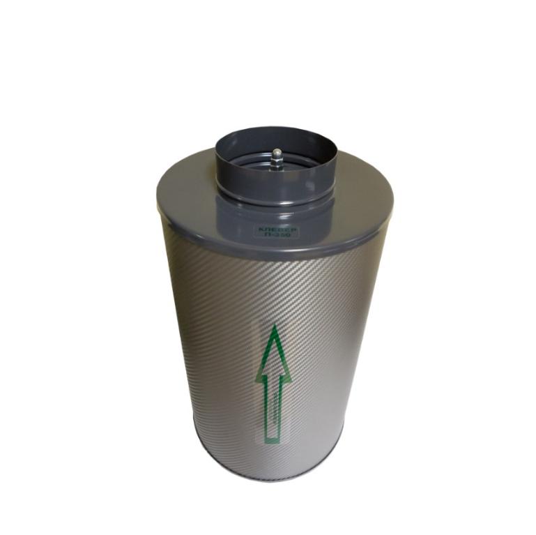 Угольный фильтр канальный Клевер 350 м3/ 125 1