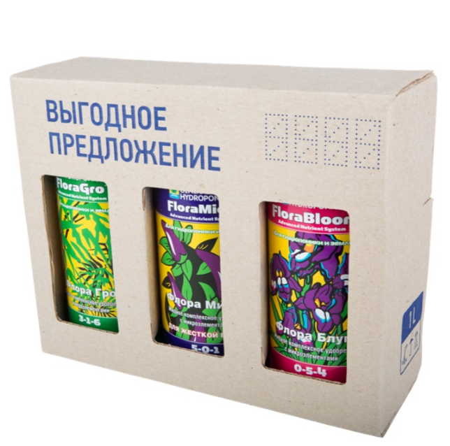 Комплект удобрений GHE Flora Series HW (для жесткой воды) 1