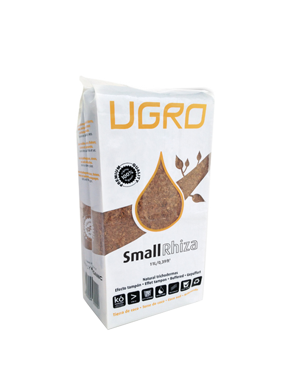Ugro Small Rhiza кокосовый брикет 1
