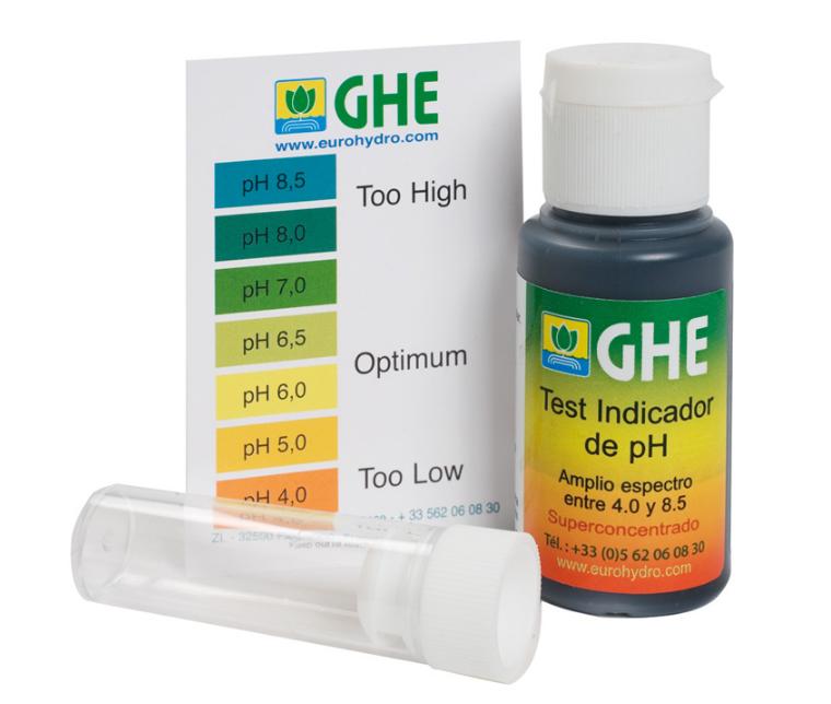 Жидкий pH тест GHE (t°C) 1